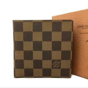 Louis Vuitton Damier Ebene Marco Bifold Wallet